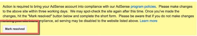 google adsense violation solutions - resolved